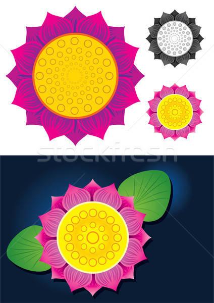Lotus Flower Vector Illustration Stock photo © Akhilesh