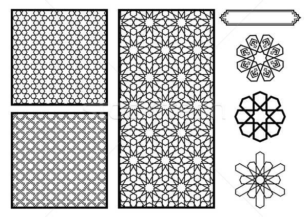 伝統的な 中東 パターン ベクトル テクスチャ ストックフォト © Akhilesh