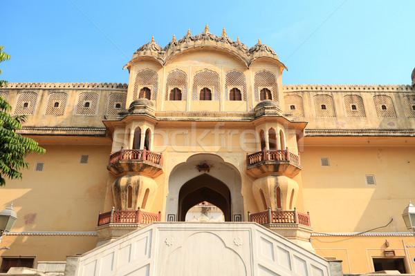 Vent palais Inde construction porte fenêtre Photo stock © Akhilesh
