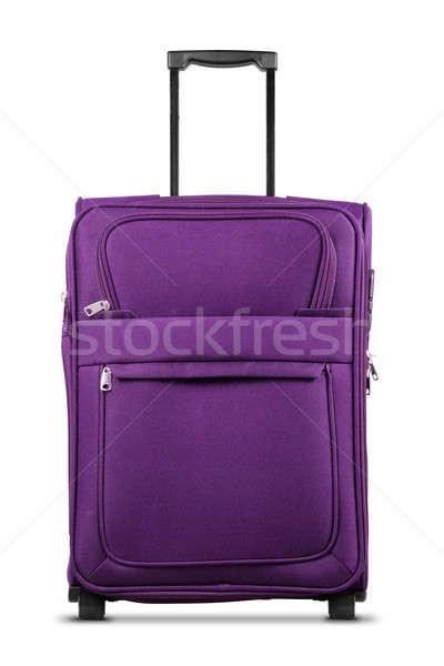 Purple Suitcase Isolated on White Background Stock photo © Akhilesh