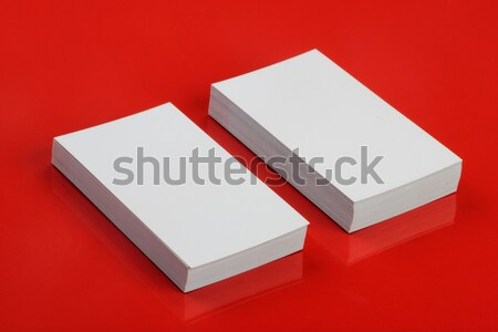 Blank White Business Card for Mockup on Red Stock photo © Akhilesh