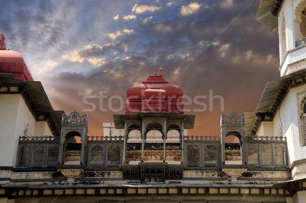 Stary budynek Indie budynku budowy architektury asia Zdjęcia stock © Akhilesh