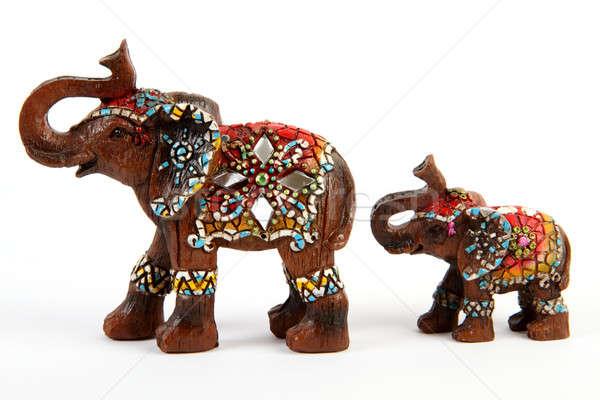 Elefante baby souvenir isolato bianco Foto d'archivio © Akhilesh