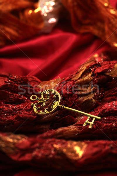 アンティーク キー 赤 ファブリック ヴィンテージ ストックフォト © Akhilesh
