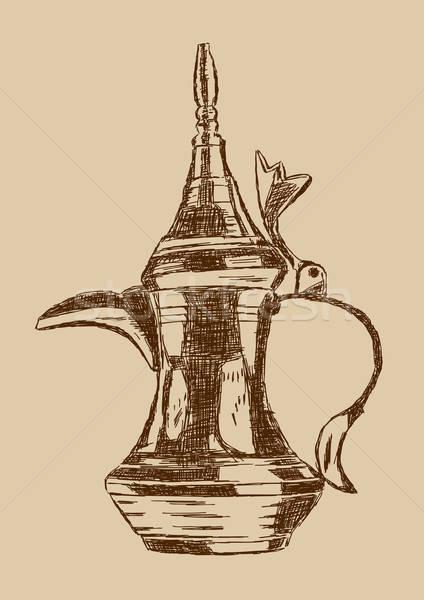 Vecchio stile arabic caffè pot Foto d'archivio © Akhilesh