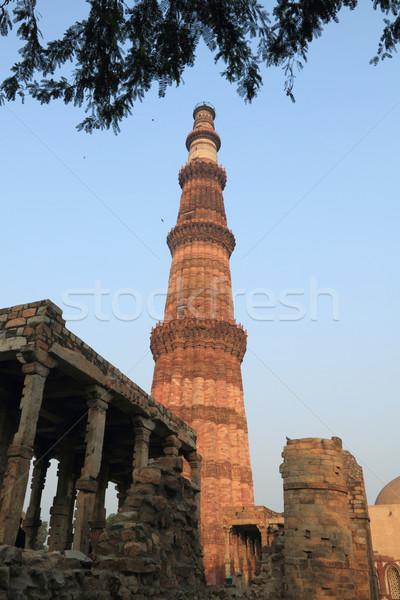 New delhi Inde bâtiment rouge pierre brique Photo stock © Akhilesh