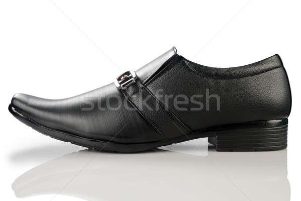 Formale nero pelle scarpa bianco Foto d'archivio © Akhilesh