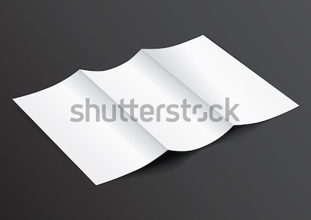 Open White Blank Folded Trifold DL Flyer for Mock up - Vector Il Stock photo © Akhilesh
