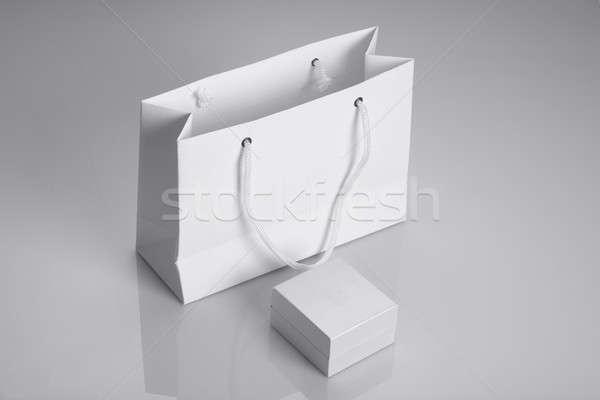 Fehér papírzacskó ékszerek doboz Stock fotó © Akhilesh