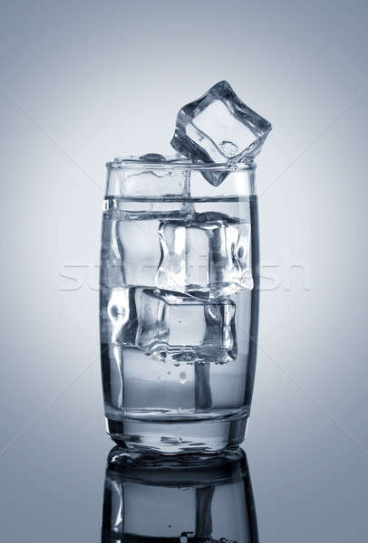 Chilled Glass of Water with Ice Cubes  Stock photo © Akhilesh