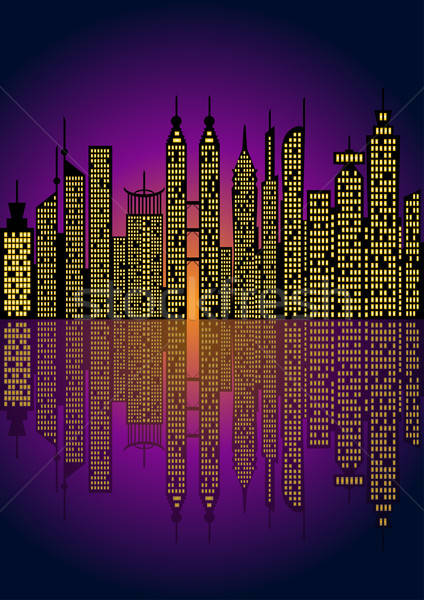 Cityscape -Vector illustration Stock photo © Akhilesh