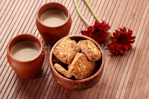 Thé indian poterie verre mug Photo stock © Akhilesh