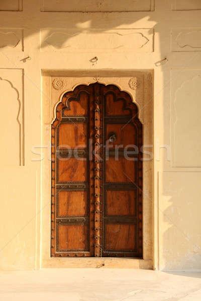 古い スタイル インド アンティーク ドア 砦 ストックフォト © Akhilesh