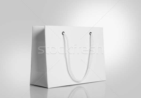 Bianco carta shopping bag grigio Foto d'archivio © Akhilesh