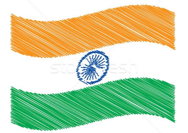 Scribble of indian flag Stock photo © Akhilesh