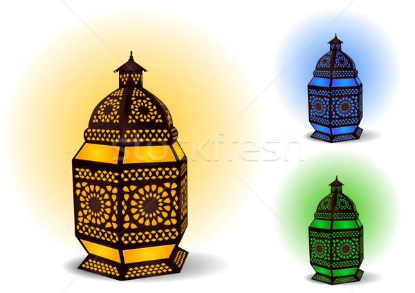 Islamic lamp for Ramadan / Eid Celebrations - Vector Illustratio Stock photo © Akhilesh