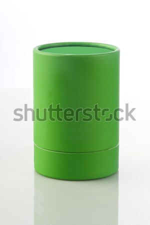 Green Cylinder Card Board Box for Packaging Mockups Stock photo © Akhilesh