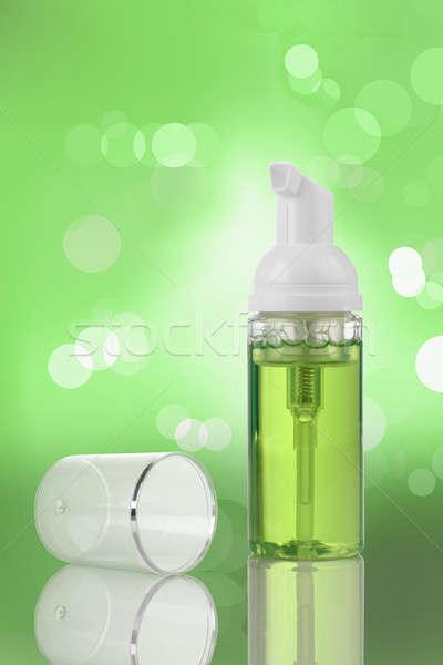 Zöld kozmetikai termék pumpa üveg vázlat Stock fotó © Akhilesh