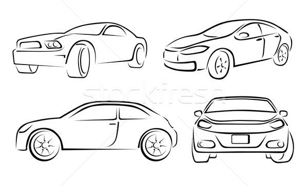Hand Drawn Car Vehicle Scribble Sketch Vector Illustration Stock photo © Akhilesh