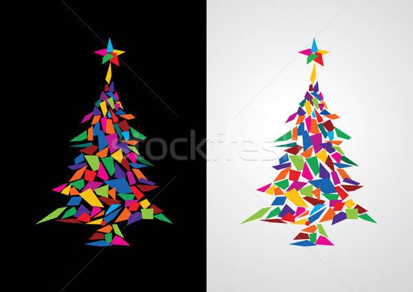 Abstract colorful christmas tree Stock photo © Akhilesh