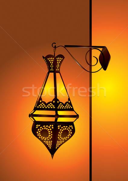 arabic lamp vector illustration Stock photo © Akhilesh