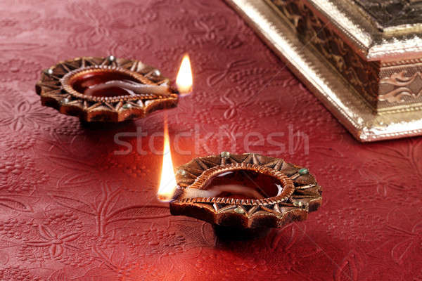 Indian Festival Diwali Diya Lamp Light Stock photo © Akhilesh