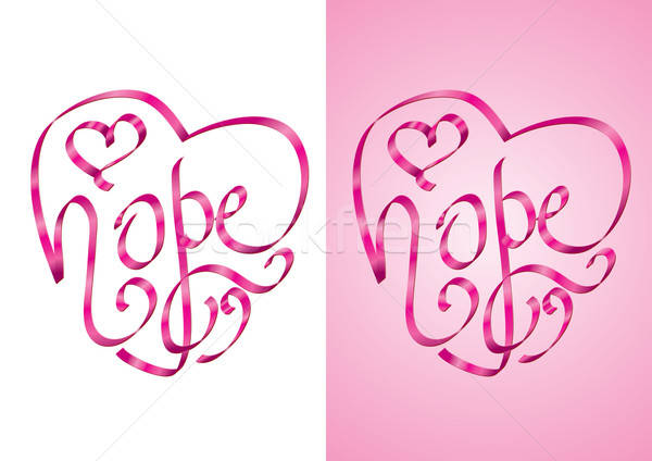 Hope - Heart shape calligraphy with ribbon Stock photo © Akhilesh