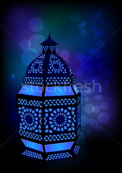 Lamp ramadan vector architectuur patroon Stockfoto © Akhilesh