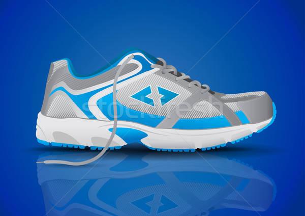 Elegáns kék sportok cipő egészség fut Stock fotó © Akhilesh
