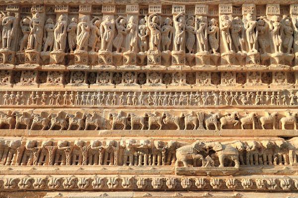Jagdish Temple Stone Carvings, Udaipur, Rajasthan, India Stock photo © Akhilesh