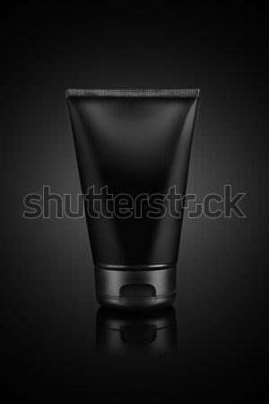 Black Colored Cream Tube For Mockup on Black Background Stock photo © Akhilesh
