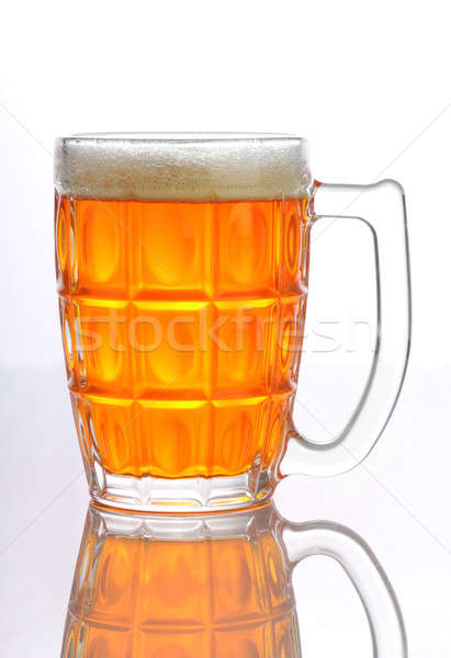 Beer Mug / Glass with froth isolated on white background Stock photo © Akhilesh
