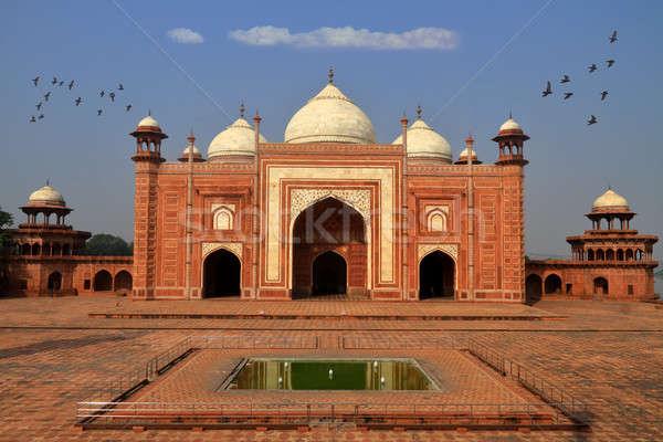 Mozole Tac Mahal Hindistan Bina mimari Stok fotoğraf © Akhilesh