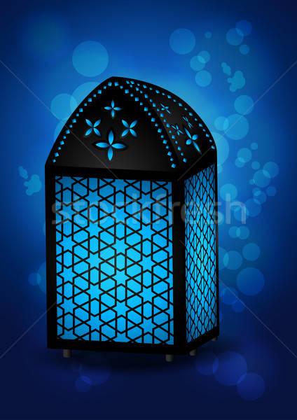 Beautiful Islamic Lamp for Eid / Ramadan Celebrations - Vector I Stock photo © Akhilesh