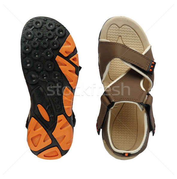 Men's Sandal Footwear Top and Sole on White Background Stock photo © Akhilesh