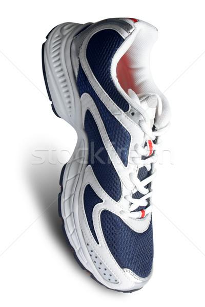 classy sports shoe in white and blue Stock photo © Akhilesh