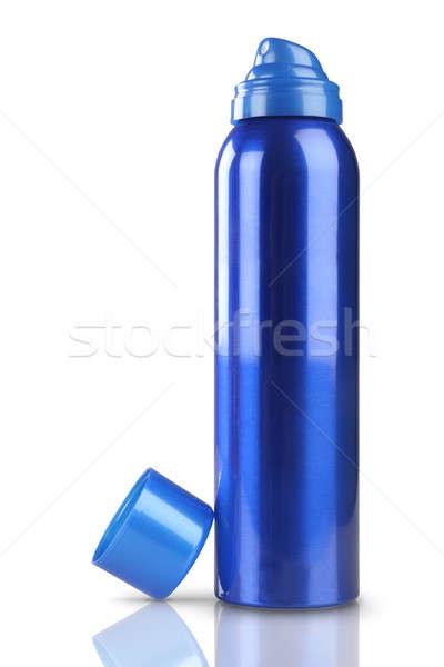 Azul desodorante perfume lata garrafa reflexão Foto stock © Akhilesh