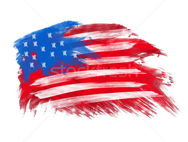 american flag in brush strokes Stock photo © Akhilesh