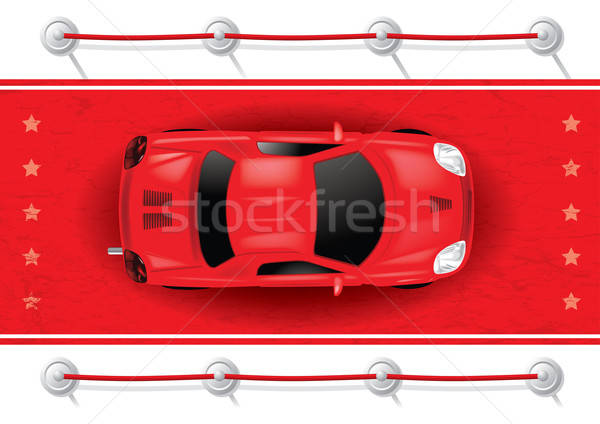Car Top View on Red Carpet - Vector Illustration Stock photo © Akhilesh