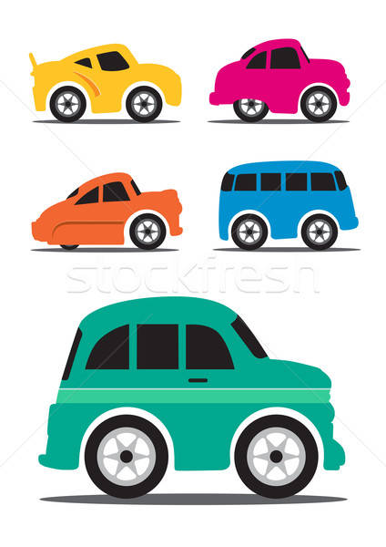 Different Retro / Vintage Car Cartoon - Vector Illustration Stock photo © Akhilesh