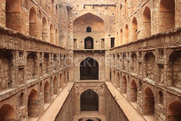 Paso así antigua construcción nueva delhi India Foto stock © Akhilesh