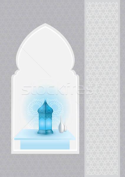 арабский лампы арабский арки рамадан вектора Сток-фото © Akhilesh