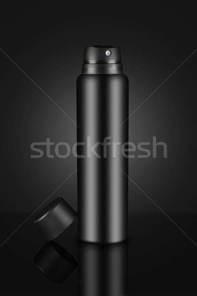 Blank Black Deodorant Perfume Spray Can for Mockups Stock photo © Akhilesh