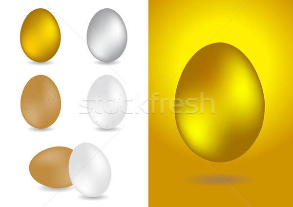セット 卵 ベクトル イラスト 食品 金属 ストックフォト © Akhilesh