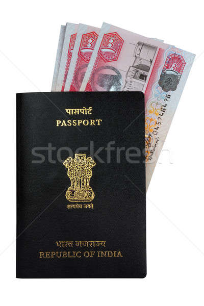 Indian Passport and UAE Currency Notes Dirhams Stock photo © Akhilesh