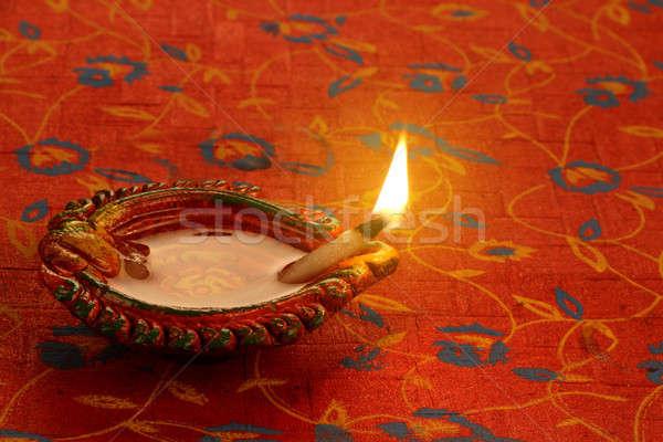 Indiai fesztivál diwali lámpa fény tűz Stock fotó © Akhilesh