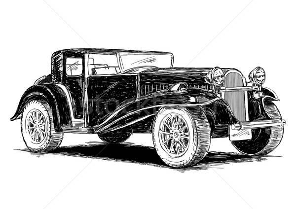 Vintage retro klasyczny stary samochód maszyny antyczne Zdjęcia stock © Akhilesh