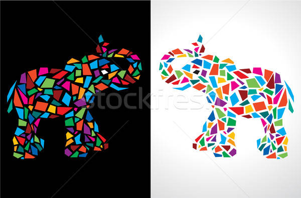 Abstract Elephant Vector Illustration Stock photo © Akhilesh