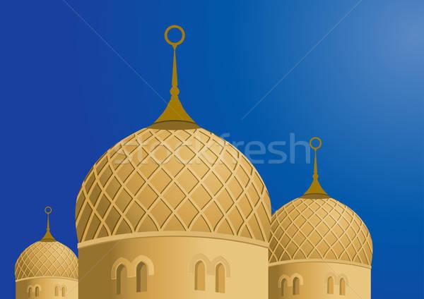Mosquée ciel bleu architecture prière musulmans arc Photo stock © Akhilesh
