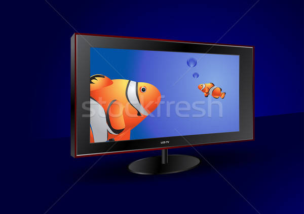 Tela plana tv tela vista lateral monitor Foto stock © Akhilesh